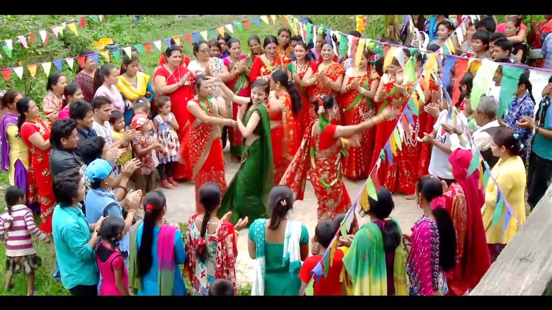 Celebrating Teej Festival